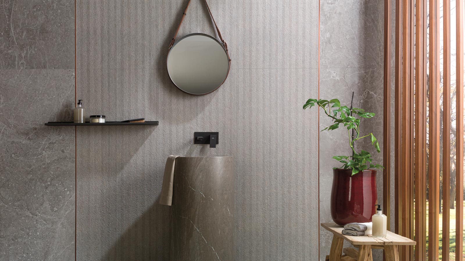 Porcelanosa's most authentic stone-effect ceramic tile collections