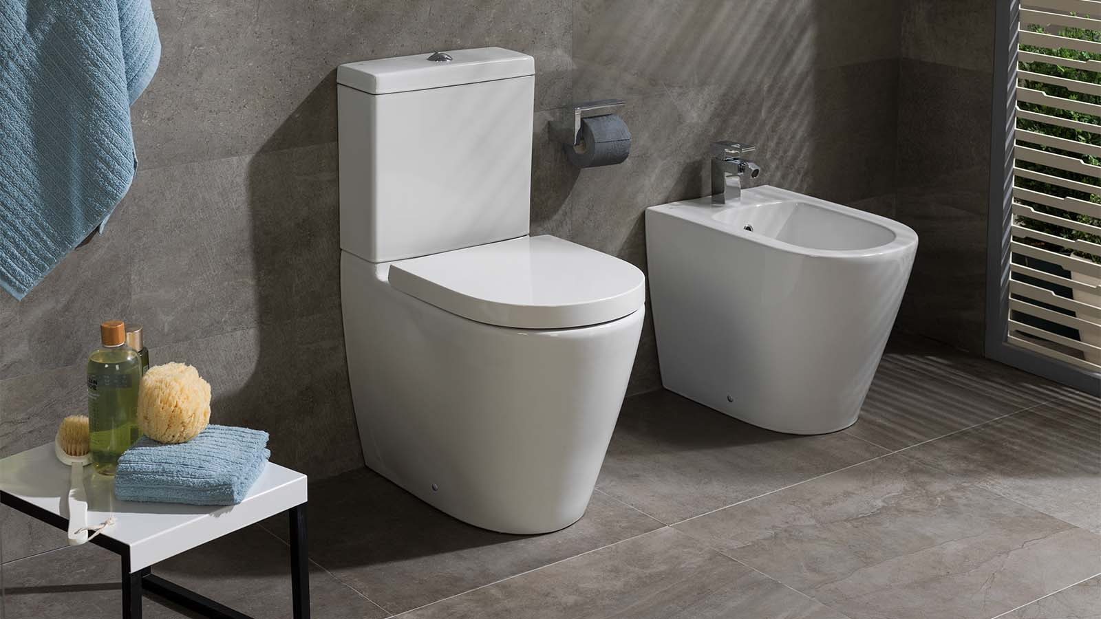 What is a close coupled toilet?