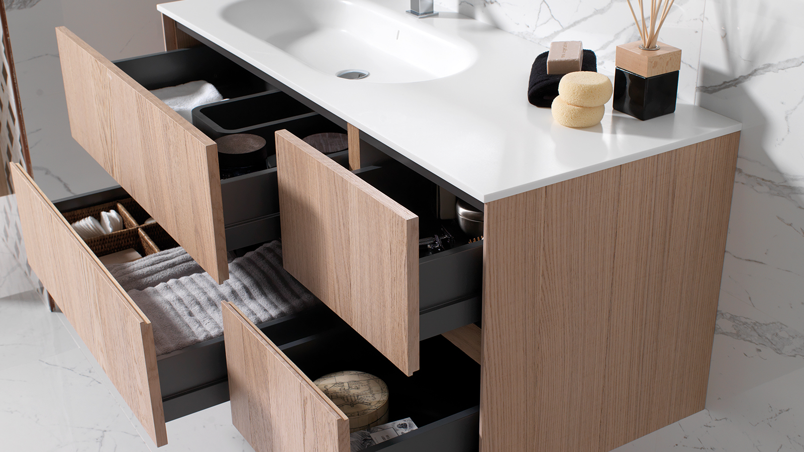 UP pure oak unit 120 cm + Last Gamadecor Porcelanosa-3
