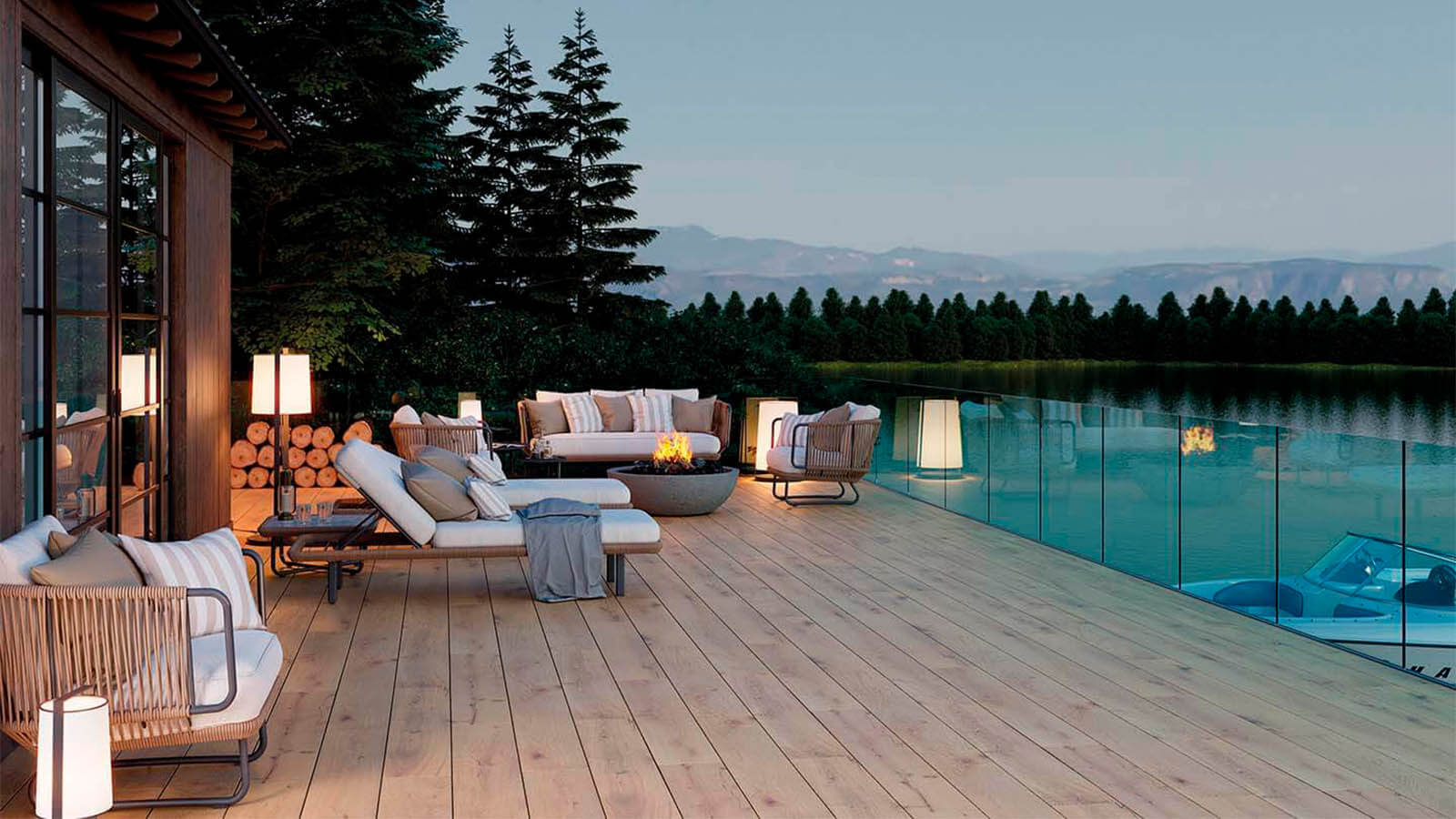 Outdoor tiles for external spaces