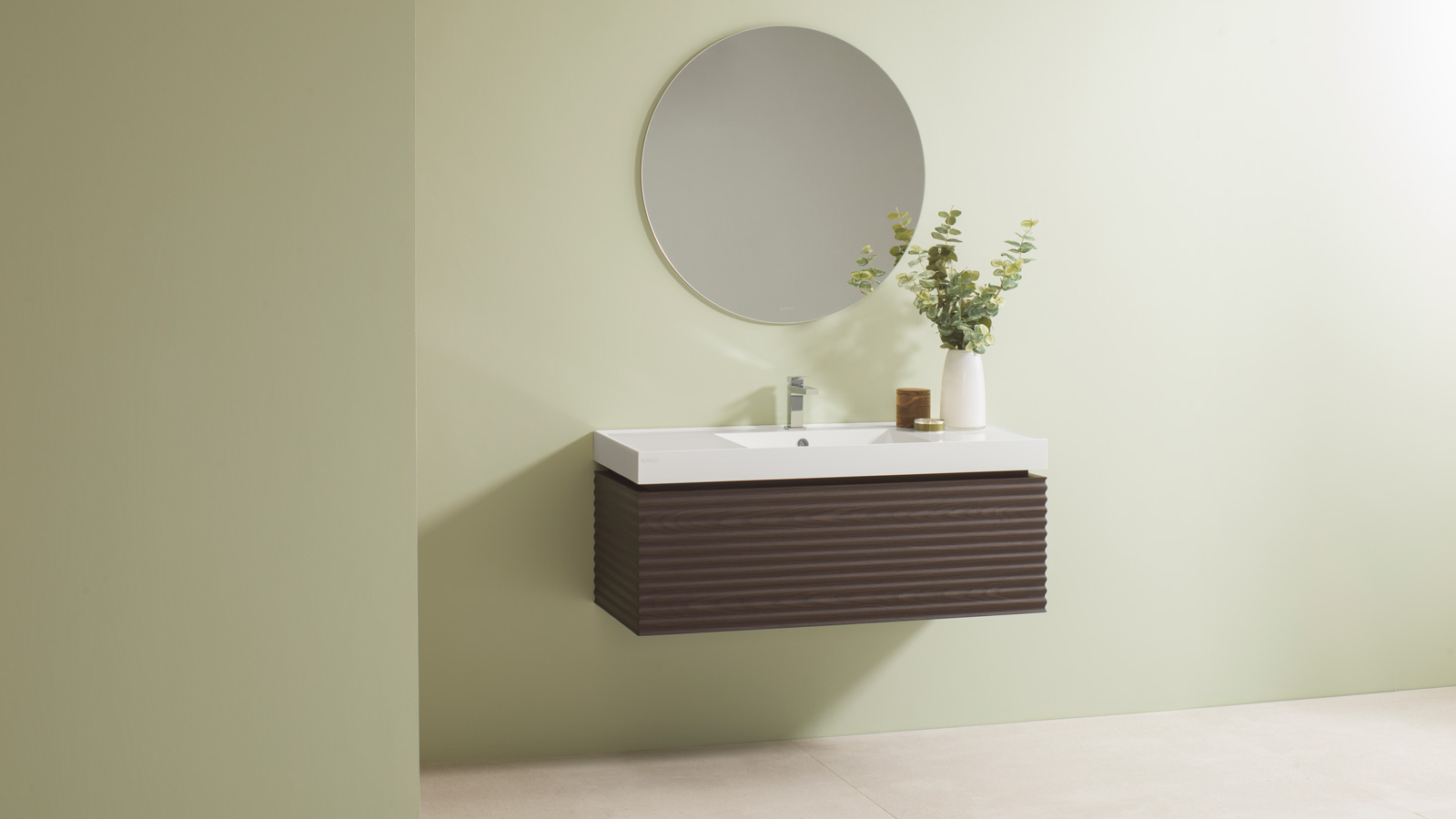 Bespoke bathrooms with collections in Krion® Shell