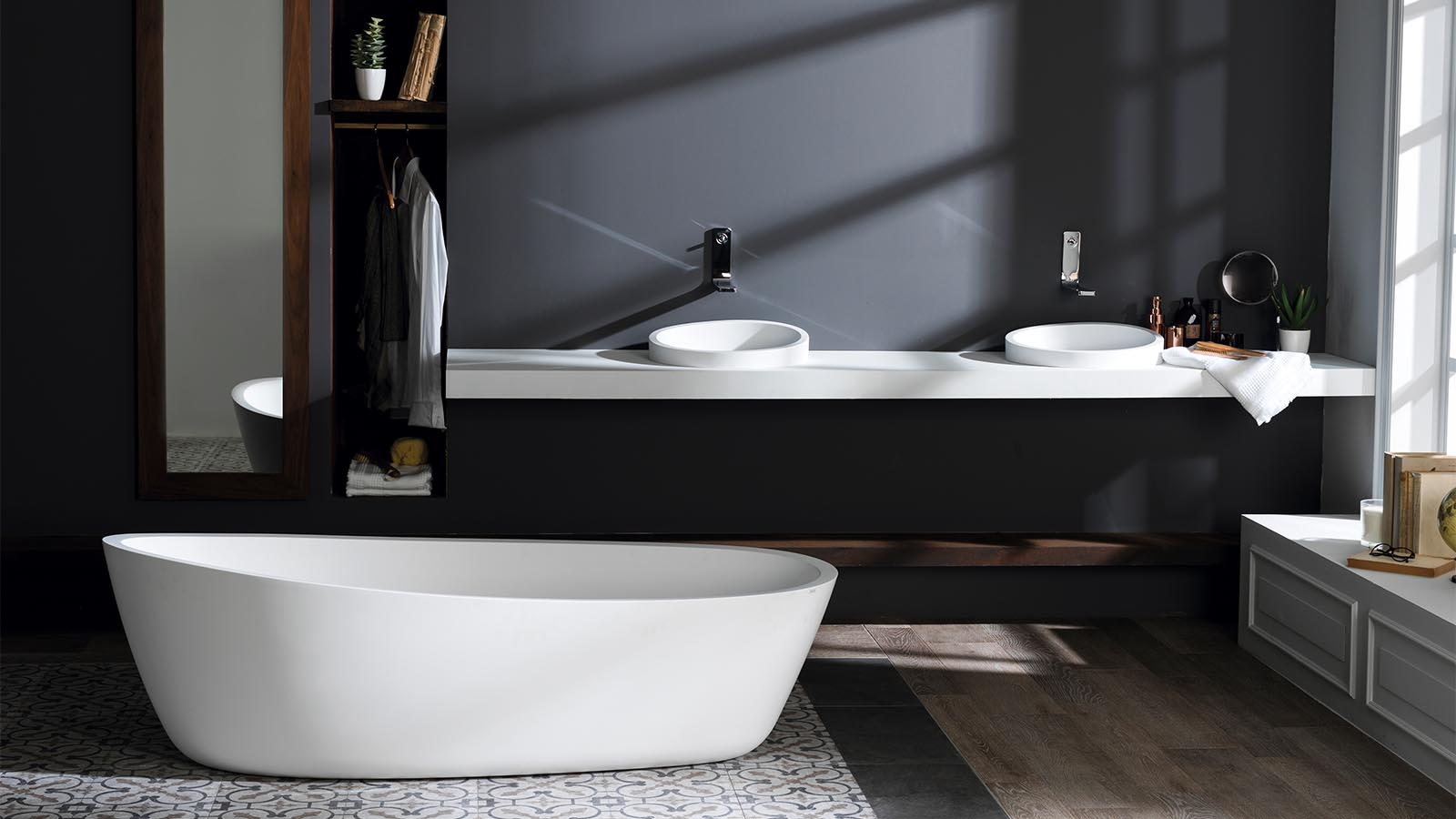 The how and why of the freestanding bath in a small bathroom