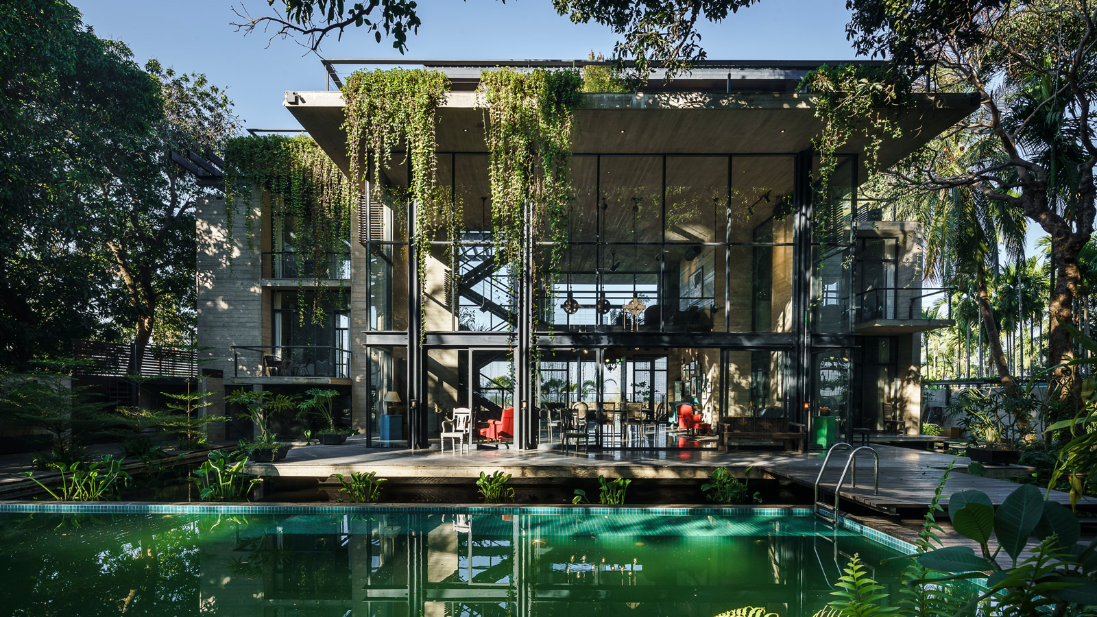 Himchori Residence, a house camouflaged by nature in Bangladesh