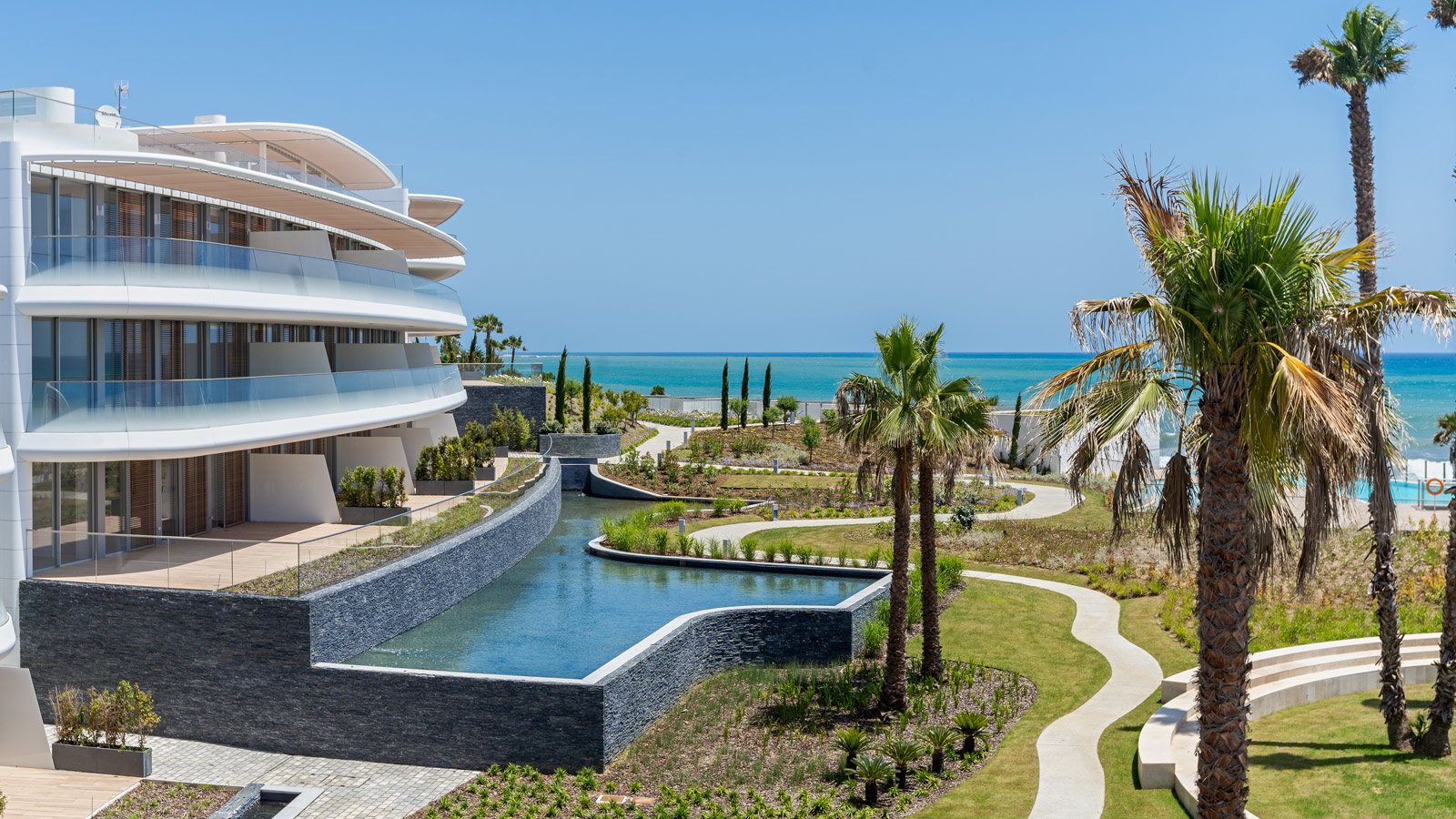 The Edge by Rafael de La-Hoz, a luxurious residential complex that blends seamlessly with the Mediterranean sea
