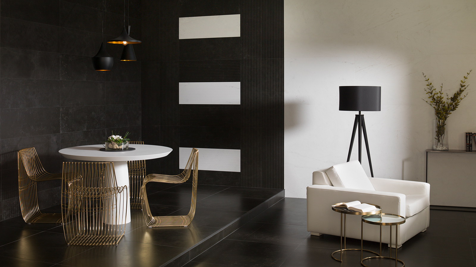 Porcelanosa's coolest dark interiors