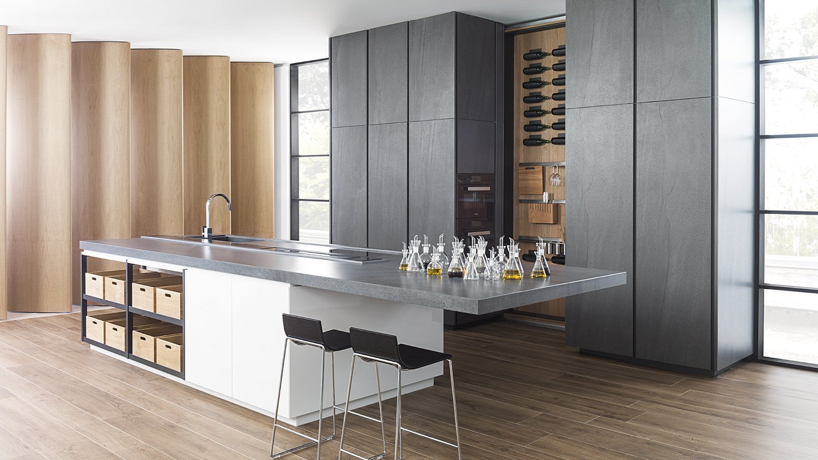 The best minimalist kitchens by PORCELANOSA for 2021