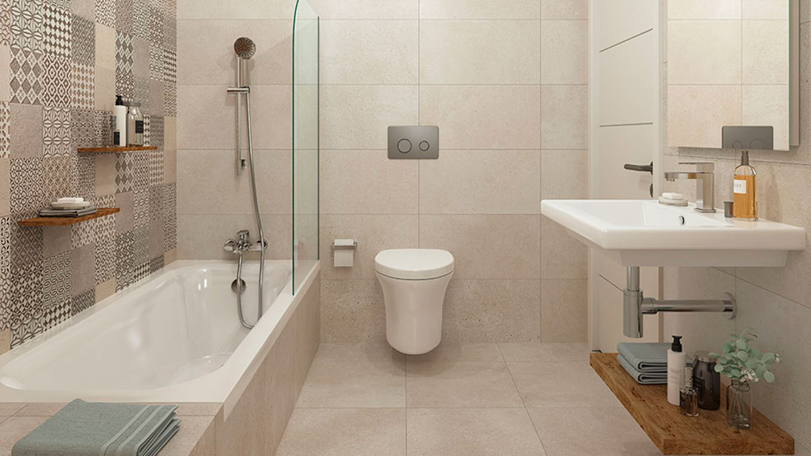 Bath-mixer-tap-with-shower-head