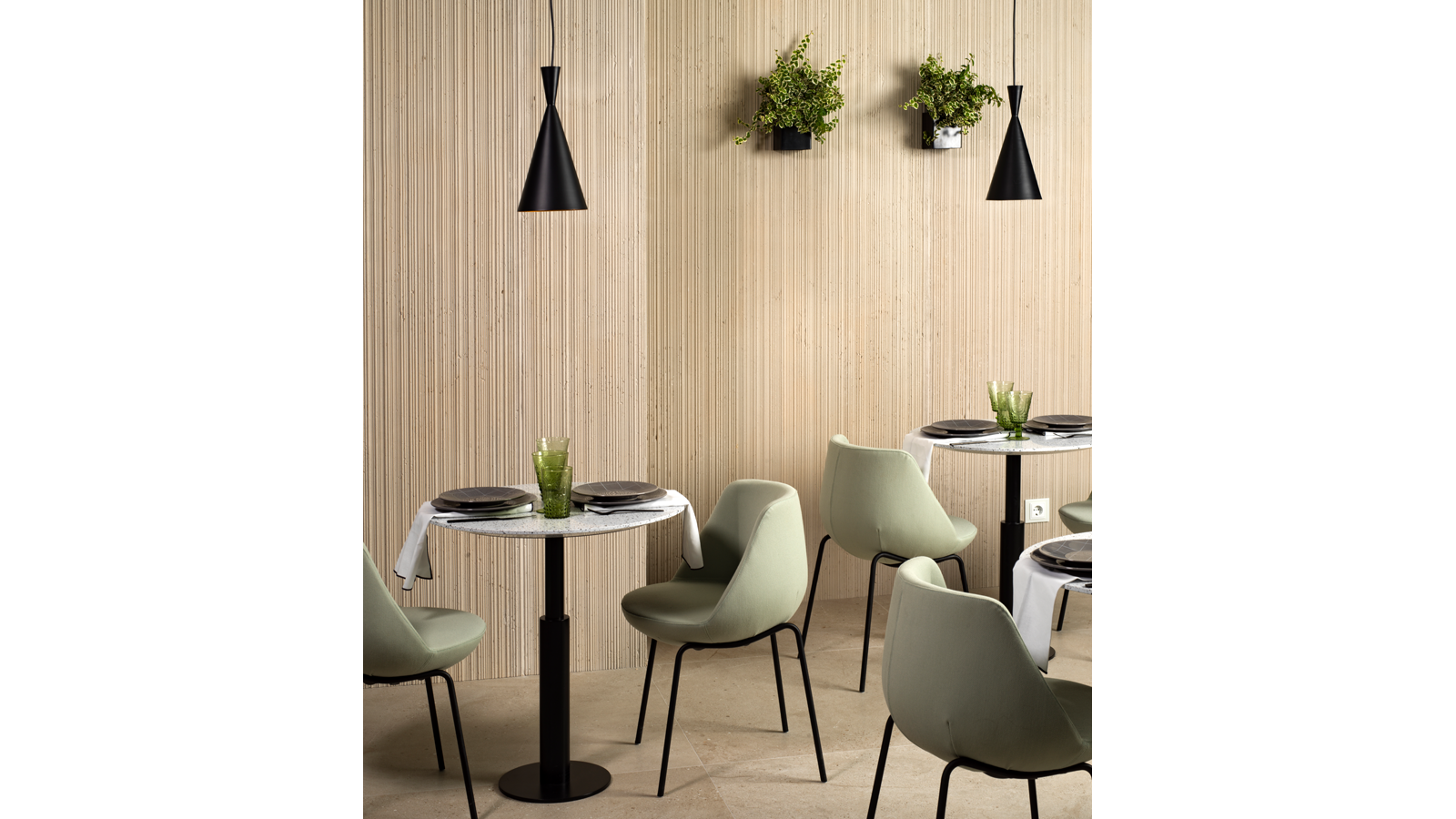 Fitwall® Rolling Series White Sand Krion Porcelanosa