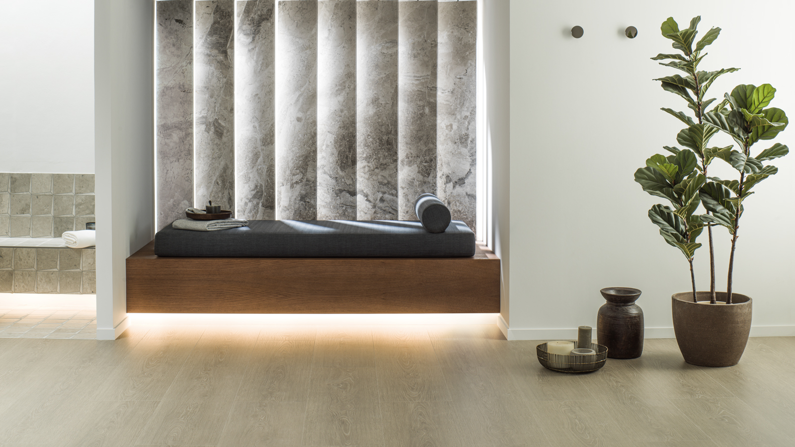 Oak and marble dominate the new collections from L'ac